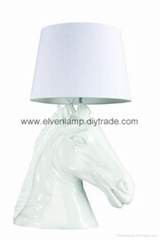 马头台灯,马灯,灯饰,灯具,灯,照明,动物台灯