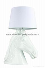 Offer  modern table lamp ,head horse