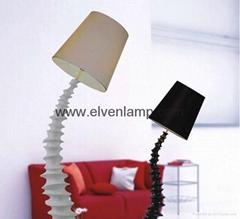 Creative personality floor lamp/spine floor lamp/bending floor lamp/living room
