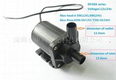 DC12V /24V Micro centrifugal pump