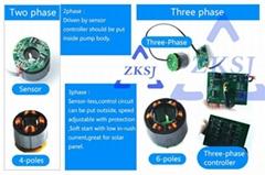 12v/24v dc brushless solar energy micro pumpZKSJ DC50K