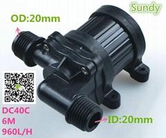 mini DC12V/24V 900L/H Brushless Magnetic