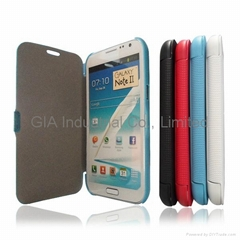 Leather Flip Case Cover For Samsung Galaxy Note II N7100