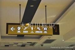百貨商場扶梯通道導視標識牌