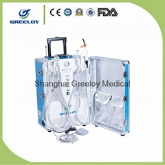 High Suction Supply With Air Compressor Portable Dental Unit