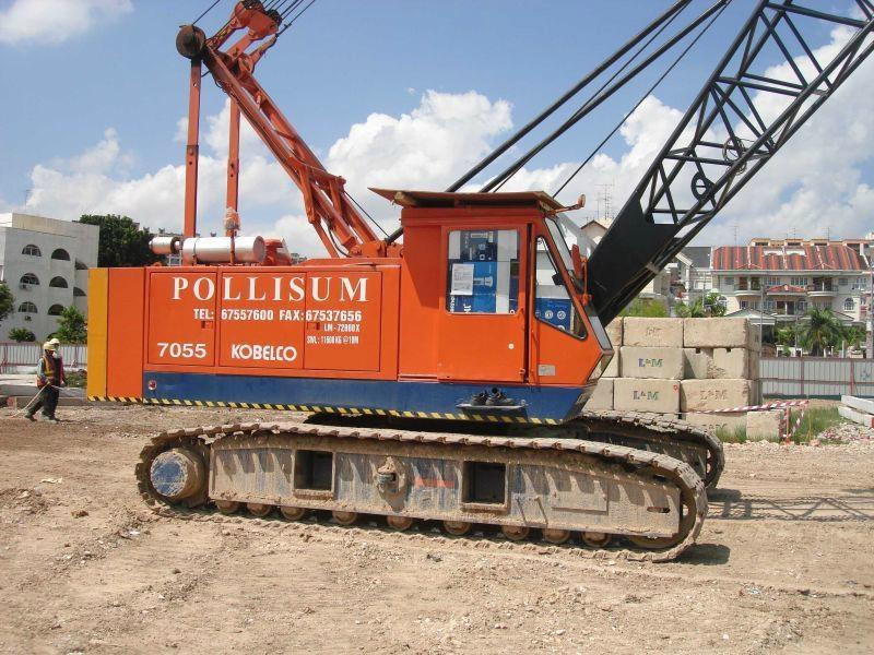 Used Crawler Crane KOBELCO 7055 - Kobelco (Singapore Services or