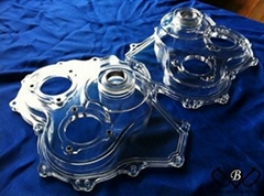Clear pmma parts with high leave polishing and helicoil insert