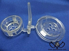 Transparent Electrical Plug cover by Injection moulding in China QBPrecision
