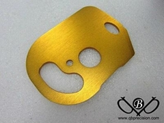 Simple Aluminum CNC parts with gold plating treatment Supplies of rapid parts