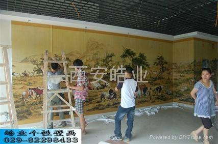 皓业个性艺术墙纸壁画 2