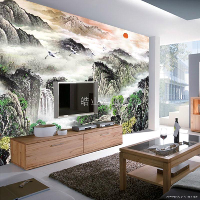 皓业大型无缝个性墙纸壁画 2