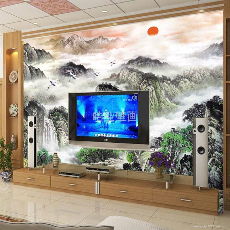 皓业大型无缝个性墙纸壁画 3