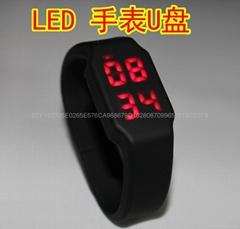 LED手表手腕带U盘