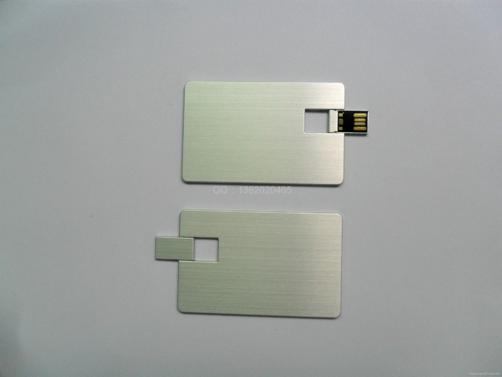 金屬卡片U盤 名片U盤 免費激光LOGO  1