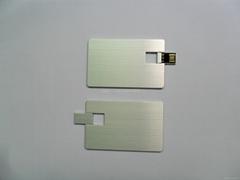 金属卡片U盘 名片U盘 免费激光LOGO