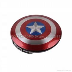 美国队长盾牌移动电源  高大上充电宝