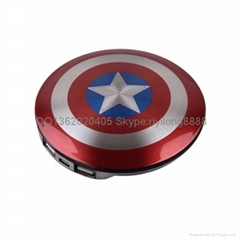 Captain America shield mobile power tall charging treasure