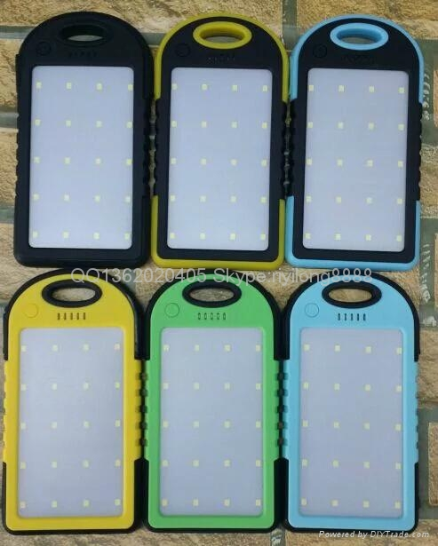 Solar energy mobile power supply with camping lamp 3