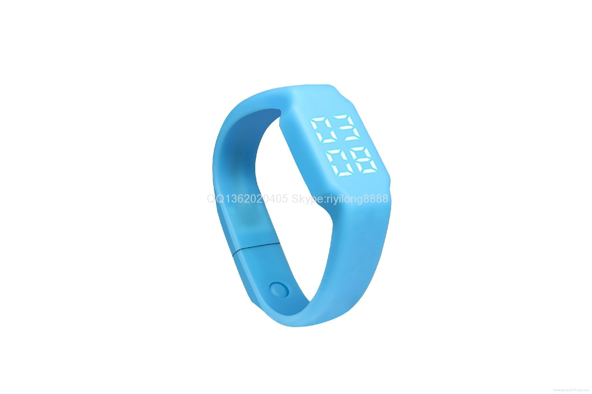 智能U盤手環 手錶計步一體 6