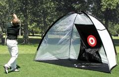 Inflatable golf practice net