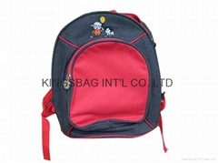 Children's jean school bag,school bag for infant,infant backpack