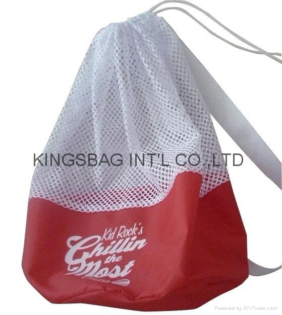 Sport drawstring bag as gift bag,drawstring backpack mesh&polyester made