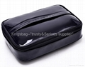 Vinyl PU cosmetic bag,clutch bag shiny PU made,gift cosmetic bag with flap