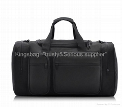 Leisure sports bag,oxford travel bag,black duffle bag polyester made
