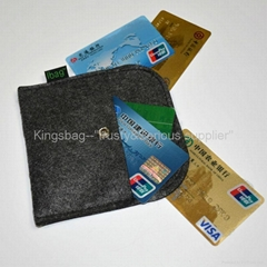 Small felt bag for holding cards,promotion gift card holder polyester felt made
