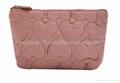 Qulited cosmetic bag,qulited makeup bag for women,ladies'cosmetic bag