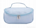 PU cosmetic case with short handle,white beauty vanity case,