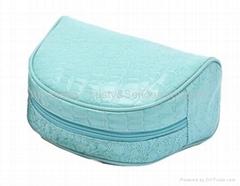 PVC cosmetic bag,half-ro