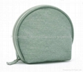 PVC cosmetic bag,half-round cosmetic bag,fashion makeup bag