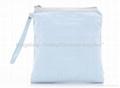 Black cosmetic bag satin PVC backing,promotion bag