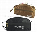 Black polyester cosmetic bag,clutch bag,toilet bag