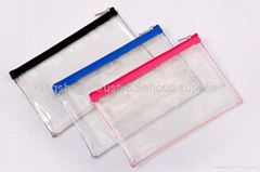Clear PVC cosmetic bag, transparent PVC makeup bag,PVC cosmetic pouch