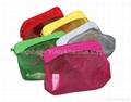 Mesh cosmetic bag rectangle shaped, mesh clutch bag, makeup bag mesh bag