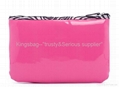 PVC cosmetic bag pink color, vinyl