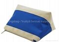 Canvas cosmetic bag stripe pattern,stripe pattern makeup bag canvas made