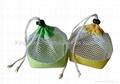 Gift drawstring bag mesh and microfiber made,promotion drawstring bag
