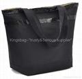 6851241d99 Nylon ladies tote bag black color