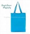 Canvas leisure simple tote bag blue