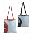Canvas leisure simple tote bag blue color, fashion shopping bag for ladies