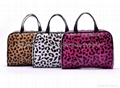 leopard prints carrying bag for ladies,leopard cosmetic bag with handle