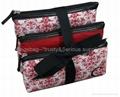 Microfiber cosmetic bag set,set of