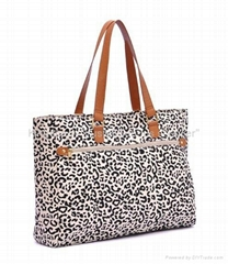 Fashion tote bag with leopard prints,ladies tote bag,beach bag leopard prints