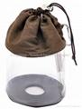 Fashion PVC drawstring bag for yarn or cosmetics,utility drawstring bag