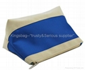 Micrfiber cosmetic bag blue color,makeup bag, ladies toilet bag