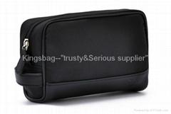 Fashion makeup bag-black satin makeup bag