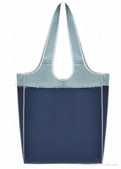 420D nylon shopping bag blue color